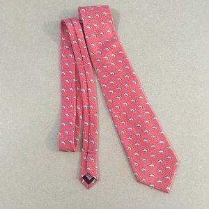 Vineyard Vines   Pink Silk Swordfish Print Tie